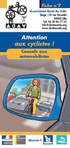 Attention aux cyclistes !