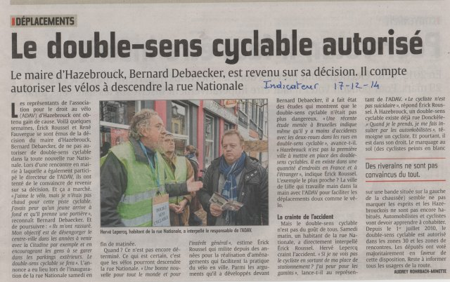 la nouvelle rue Nationale inaugurée - L'indicateur
